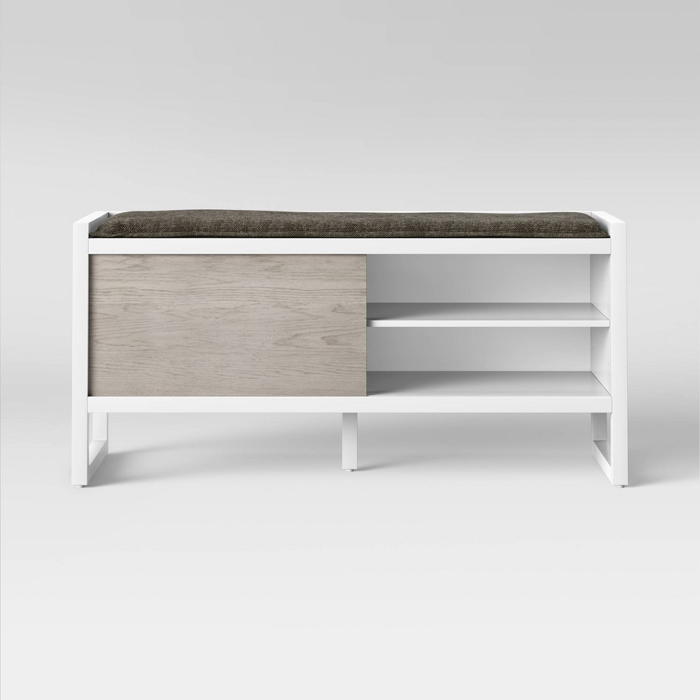 Fairglen Two Tone Entryway Bench Natural/White - Project 62