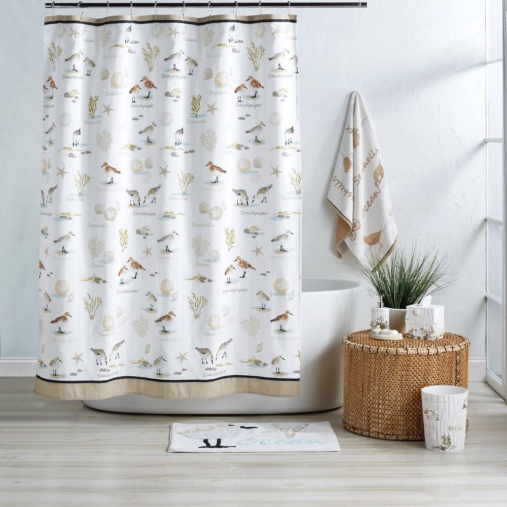 Image of Bird Haven Shower Curtain White - Destinations