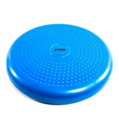 Power Systems 80159 Versa Inflated Cushion Disc Fitness Equipment for Home or Gym Balance Exercise Stability Workout or Sensory Support Therapy, Blue