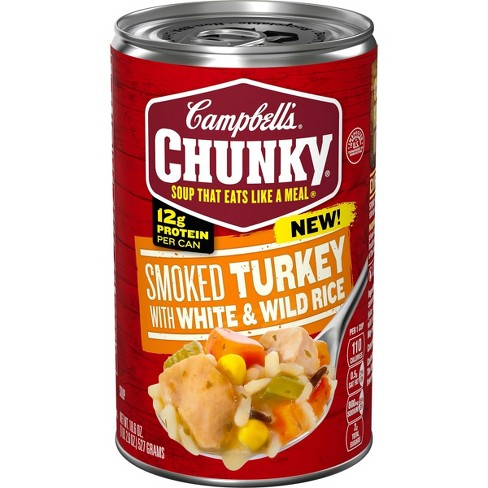 Campbell's Chunky Smoked Turkey with White and Wild Rice Soup - 18.6oz - image 1 of 4