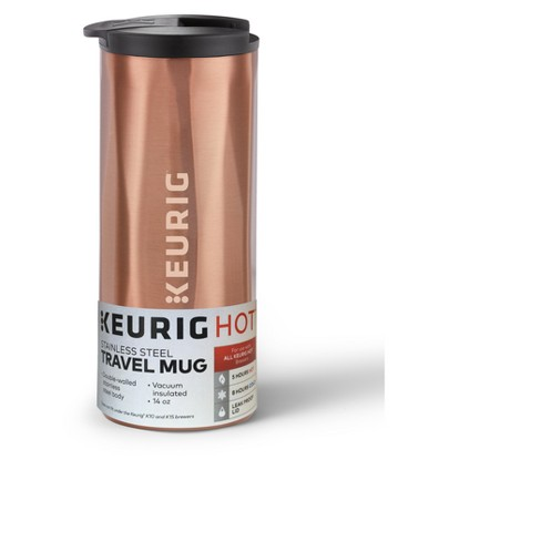 Keurig Stainless Steel Double-Walled 14oz Travel Mug - Copper - image 1 of 4