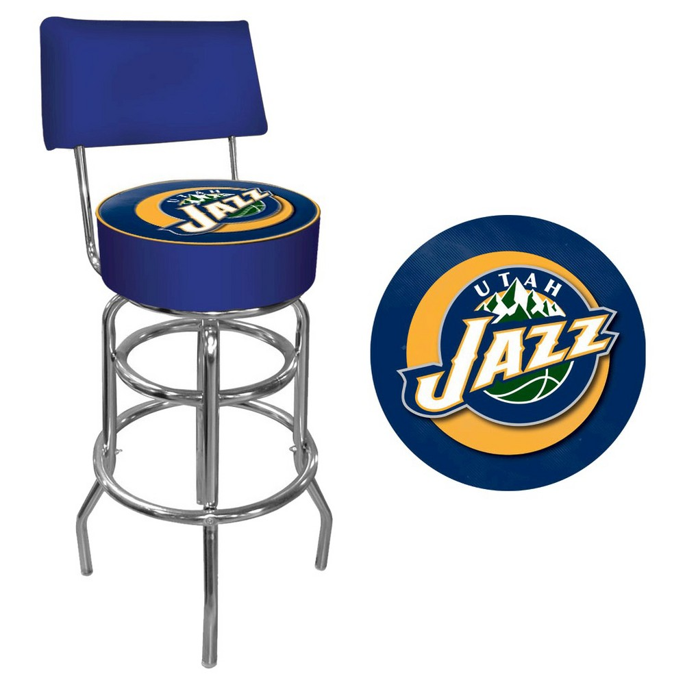Utah Jazz Hardwood Classics Bar Stool with Back