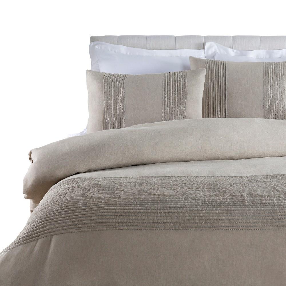Napoli Solid Bed Skirt (California) Light Gray - Surya