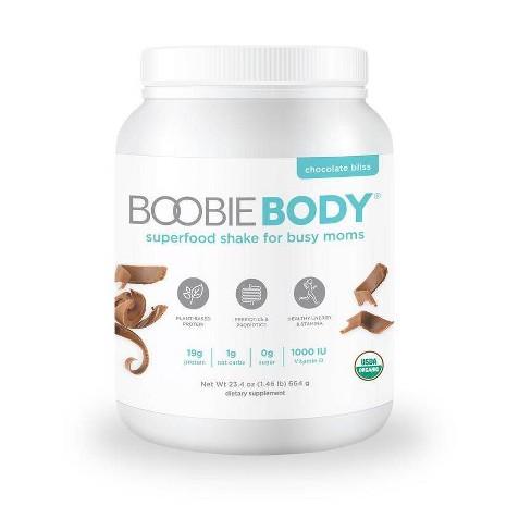 BoobieBody Organic Superfood Plant-Based Protein Shake, Chocolate Bliss - 21.3oz -1Tub - image 1 of 3