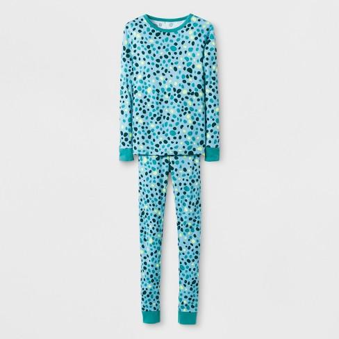 fed64e401c5a Kids  Animal Prints Pajama Set - Cat   Jack™ Green   Target