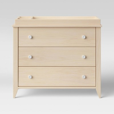 Babyletto Sprout 3-Drawer Changer Dresser - Washed Natural And White