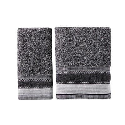 Saturday Knight Ltd Geo Stripe High Quality & Ultra-Durable Bath Towel For Everyday Use 27x50-in, Slate