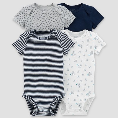 Baby Boys' 4pk Bodysuit Set - Just One You® made by carter's Blue Preemie