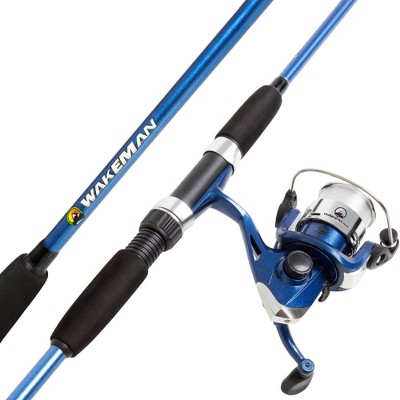 Wakeman Fishing Rod and Reel Combo - Blue