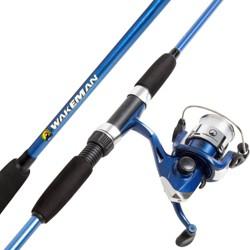 Wakeman Fishing Rod and Reel Combo - Blue