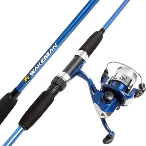 Wakeman Fishing Rod And Reel Combo Blue Target