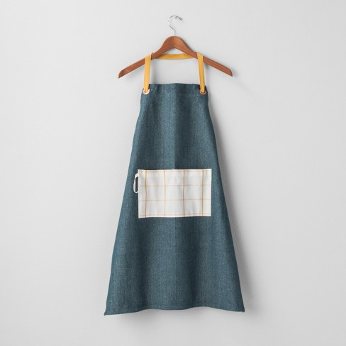 Yarn Dyed Apron - Blue/Yellow - Hearth & Hand™ with Magnolia - image 1 of 2