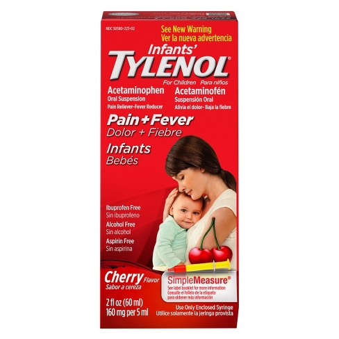 Infants' Tylenol Pain Reliever and Fever Reducer Liquid - Acetaminophen - Cherry - 2 fl oz - image 1 of 8