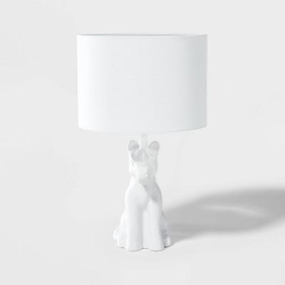 Unicorn Figural Lamp White - Pillowfort™
