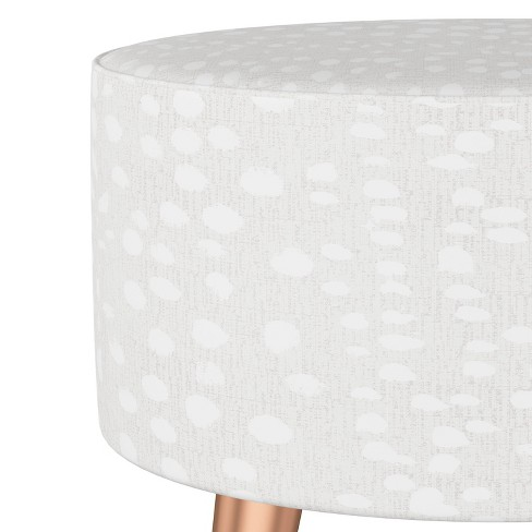 Sensational Riverplace Ottoman With Splayed Linen Leopard Ivory Project 62 Ncnpc Chair Design For Home Ncnpcorg