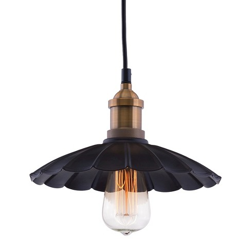 "Industrial Antique Black and Copper 9"" Ceiling Lamp - ZM Home - image 1 of 4"