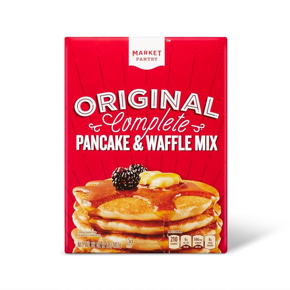 Original Complete Pancake & Waffle Mix - 8ct/32oz - Market Pantry Top