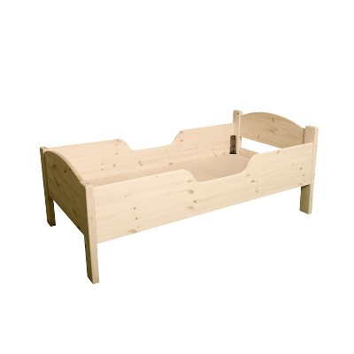 Little Colorado Traditional Wooden Children's Toddler Baby Crib Bed with Safety Side Rails for Kids 18 Months to 4 Years Old, Unfinished Birch