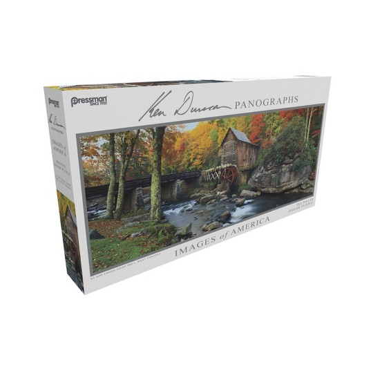 Pressman Images Of America: Glade Creek Grist Mill Panoramic Puzzle 504pc image number null