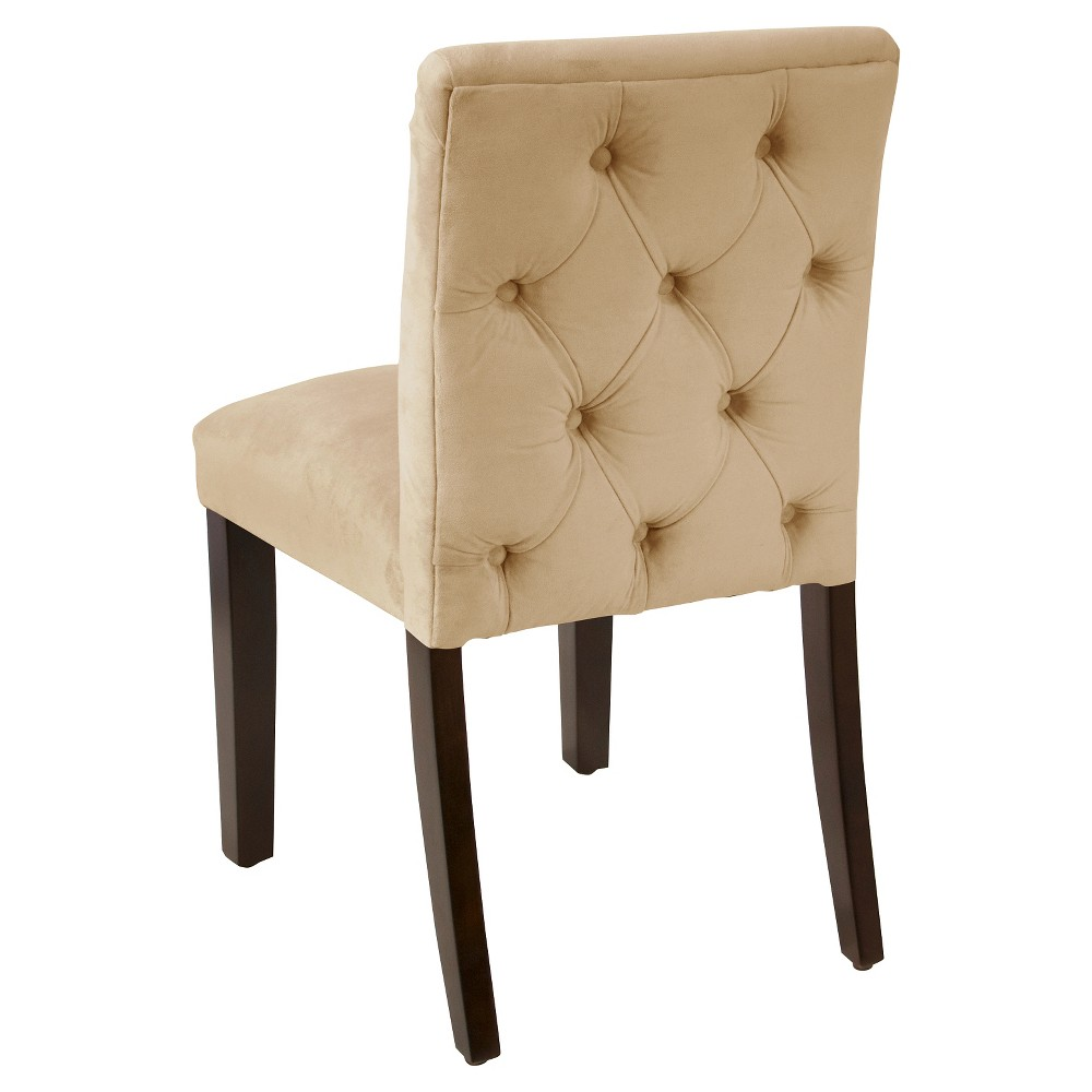 Aster Diamond Tufted Back Dining Chair Cream Velvet - Cloth & Co.