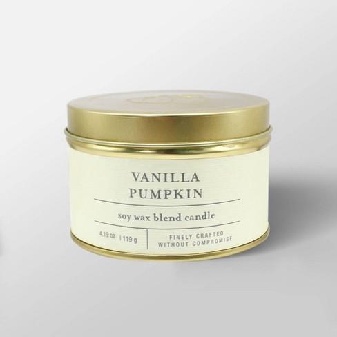 4.1oz Tin Jar Candle Vanilla Pumpkin - Threshold™ - image 1 of 2