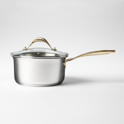 Cravings by Chrissy Teigen 2.7qt Stainless Steel Covered Saucepan - image 1 of 2