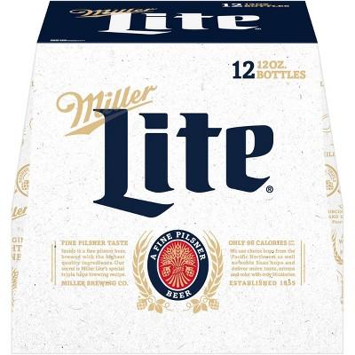 Miller Lite Beer - 12pk/12 fl oz Bottles