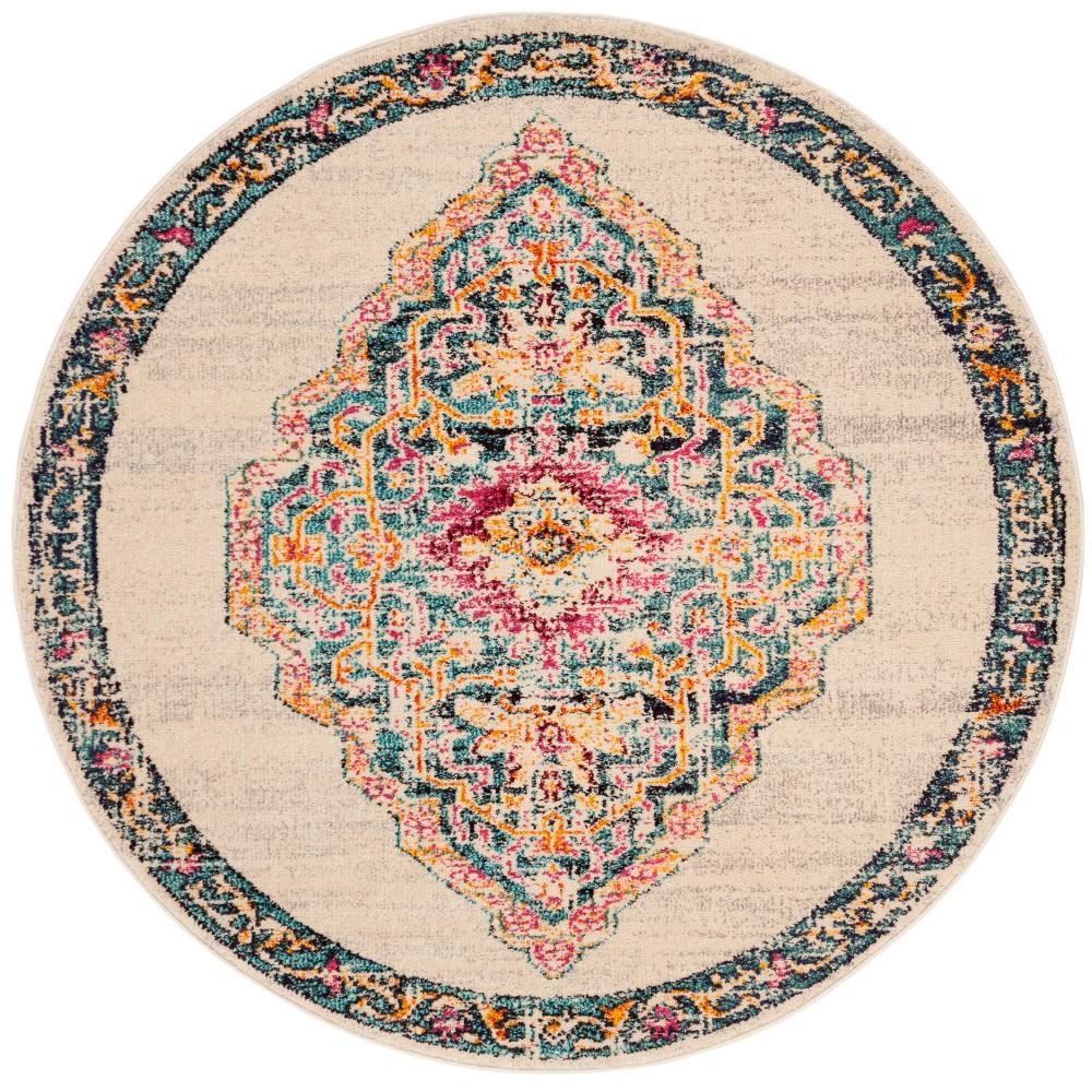 5' Medallion Round Area Rug - Safavieh, Multi-Colored