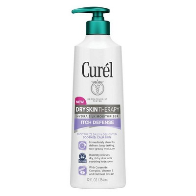 Body Lotions: Curél Dry Skin Therapy Itch Defense