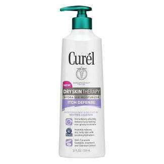 Curel Dry Skin Therapy Itch Defense Hand and Body Lotion - 12 fl oz