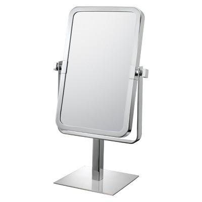Rectangular 3X/1X Vanity Mirror Chrome - Mirror Image
