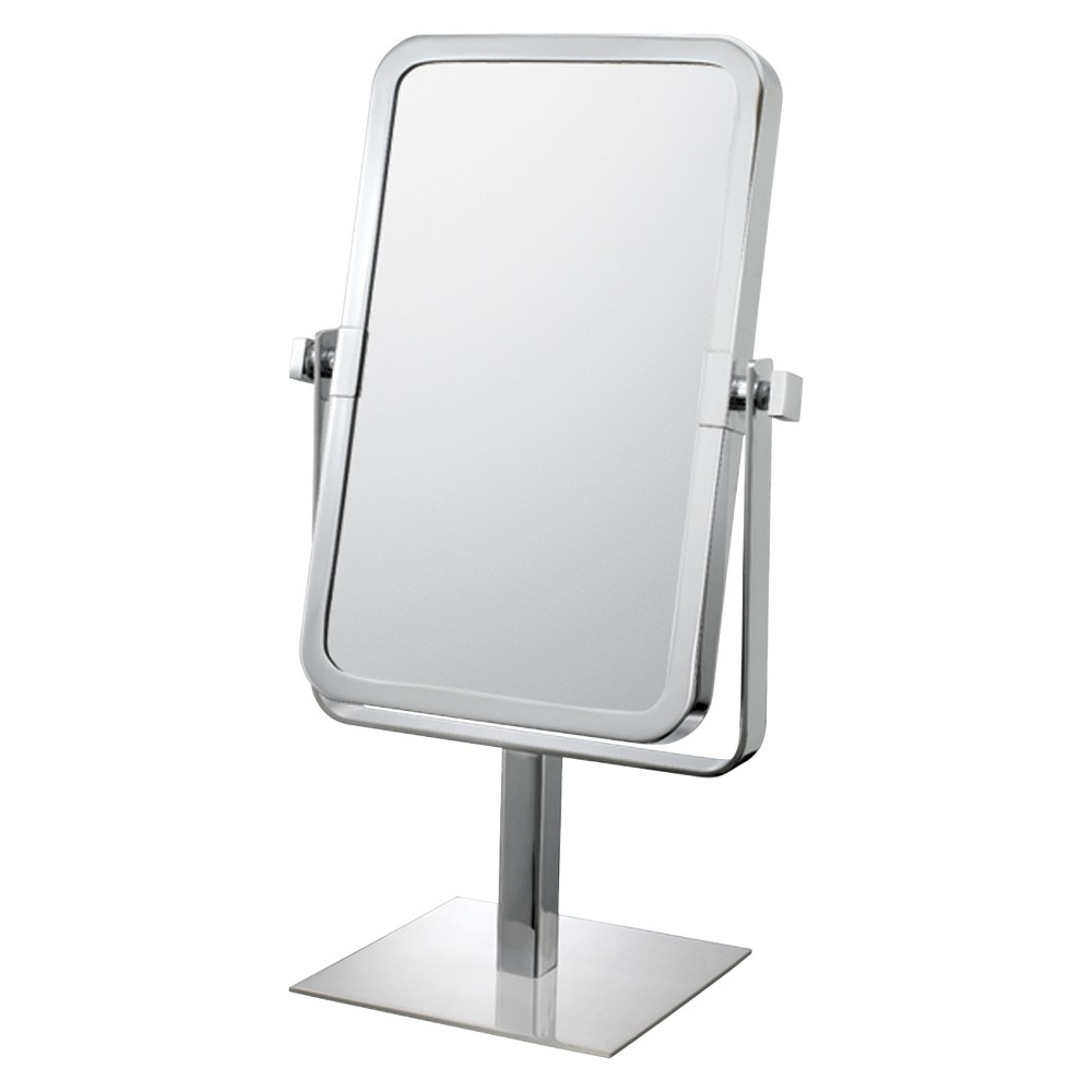 Image of Rectangular 3X/1X Vanity Mirror Chrome - Mirror Image