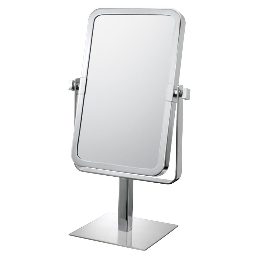 Image of Rectangular 3X/1X Vanity Mirror Chrome - Mirror Image