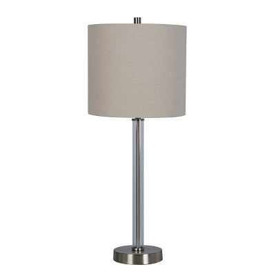 Clear Tube Buffet Table Lamp Brushed Nickel (Includes Energy Efficient Light Bulb)- Project 62™