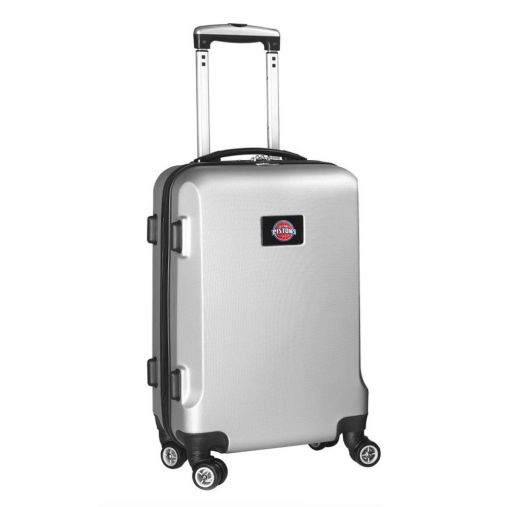 NBA Detroit Pistons Mojo Hardcase Spinner Carry On Suitcase - Silver