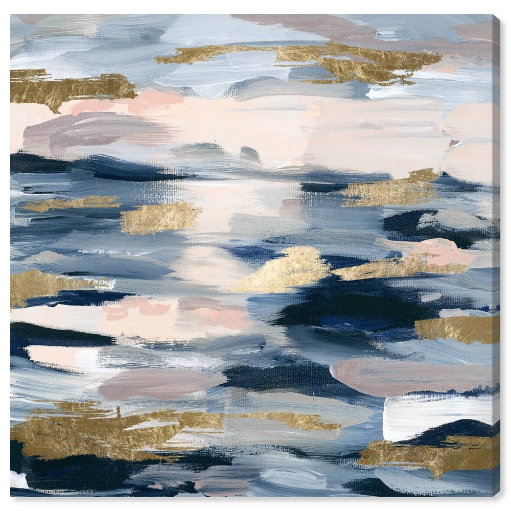Image of 12'' x 12'' Smoke on the Water Unframed Wall Canvas Blue - Oliver Gal