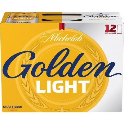 Michelob Golden Light Draft Beer - 12pk/12 fl oz Cans