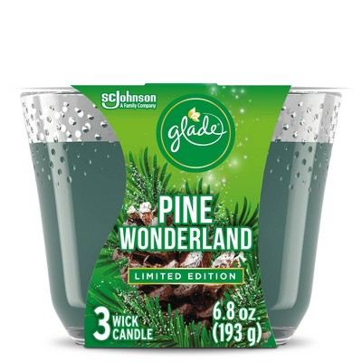 Glade Pine Wonderland Candle - 6.8oz