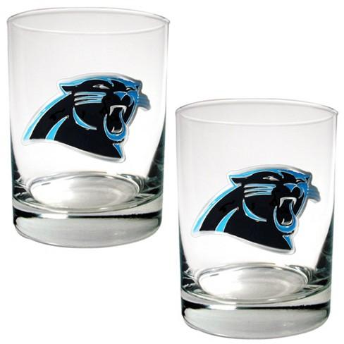 NFL Carolina Panthers Rocks Glass Set - 2pc - image 1 of 1
