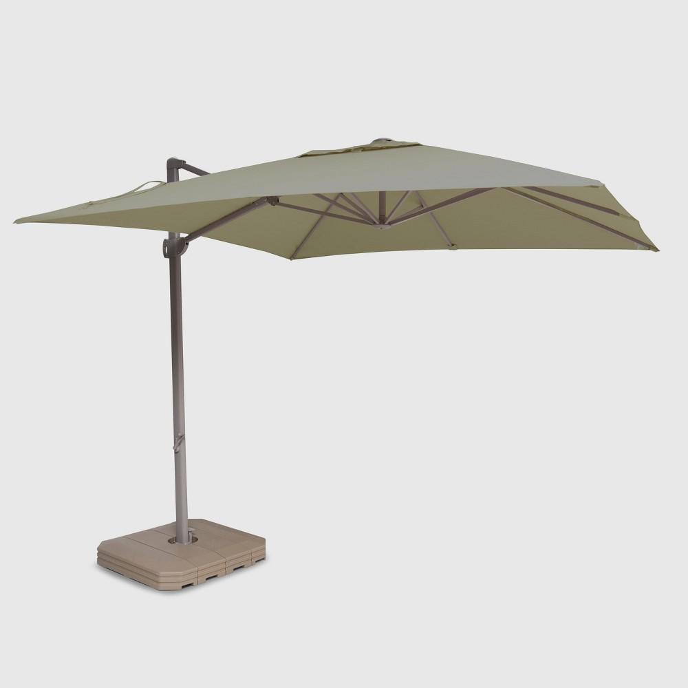 10' Square Offset Patio Umbrella Dove - Ash Pole - Project 62
