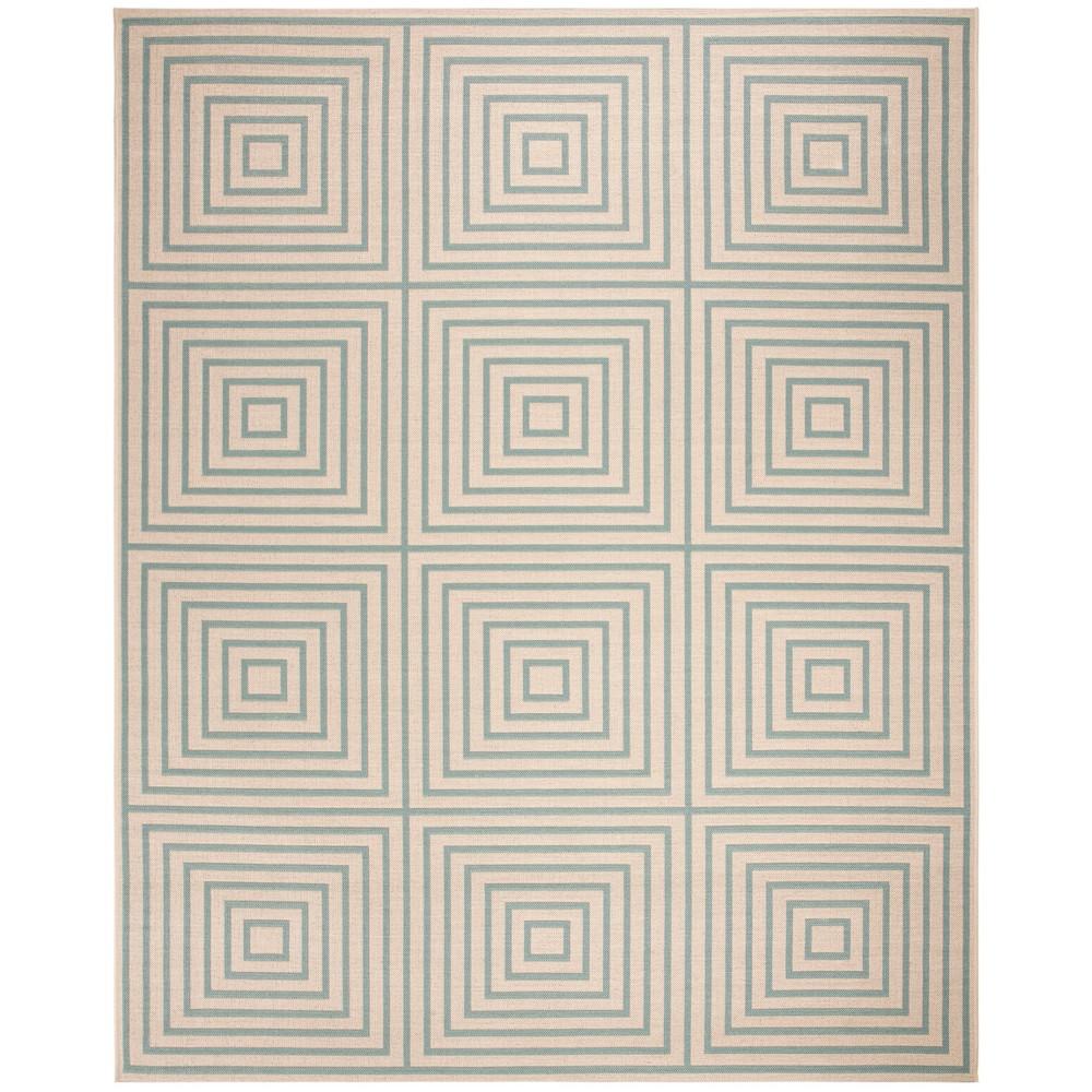9X12 Geometric Loomed Area Rug Cream/Aqua - Safavieh Promos