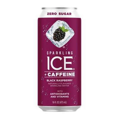 Sparkling Ice + Caffeine Black Raspberry - 16 fl oz Can