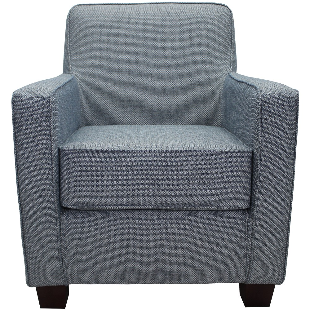 Johnson Stain Resistant Oversize Arm Chair Light Blue - Fox Hill Trading