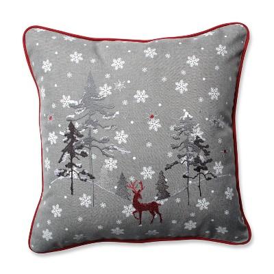 "16.5"" x16.5"" Reindeer Square Throw Pillow - Pillow Perfect"