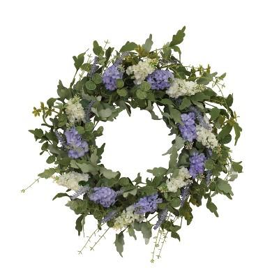 Gerson International 24-Inch Diameter Hyacinth and Lavender Twig Wreath