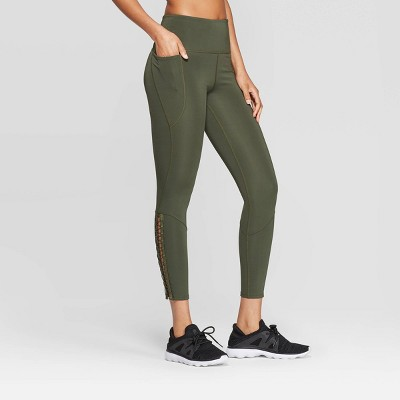 Women's High Waisted Rise 7/8 Laced Up Leggings   Joy Lab™ by Joy Lab