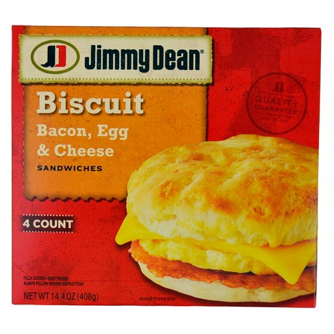 Jimmy Dean Bacon Egg & Cheese Frozen Biscuit Sandwiches - 4ct - image 1 of 3