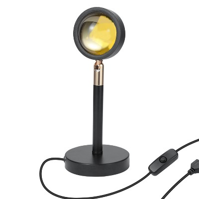Dartwood LED Sunset Lamp - Adjustable, USB Powered, 180 Degree Sunset Projector Night Light for Bedrooms, Parties, Photography and Selfies