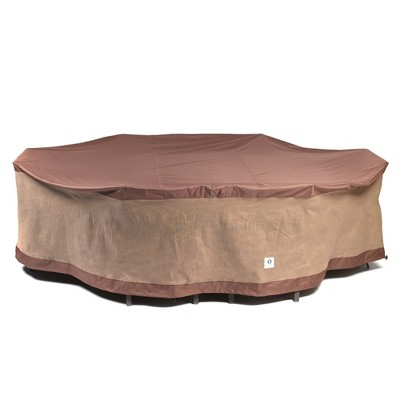 """109""""L Ultimate Rectangular/Oval Patio Table with Chairs Cover Mochaccino - Classic Accessories"""