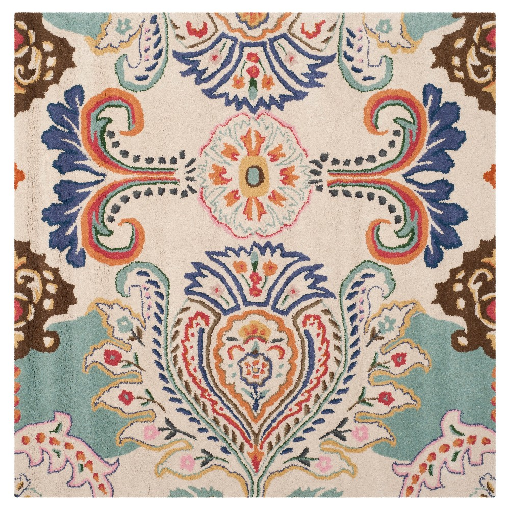 Harvey Area Rug - Ivory/Blue (5'x5') - Safavieh, White Blue